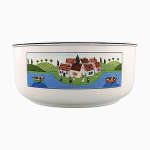 Villeroy & Boch Naif Bowl in Porcelain Decorated with Nativist Village Motif