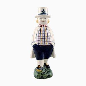 Aluminia Child Figure Hans, Denmark, Mid-20th Century