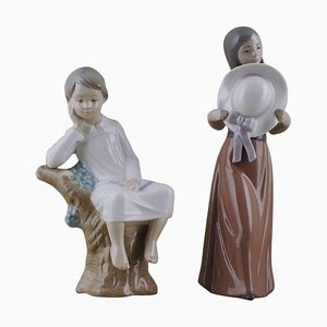 Lladro Figurines in Porcelain, 20th Century, Set of 2