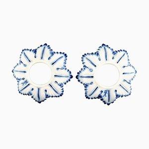Light Cuffs Meissen Blue Onion Pattern, Set of 2