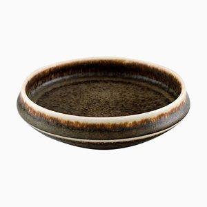 Braun glasierte Keramikschale von Carl-Harry Stålhane Rörstrand