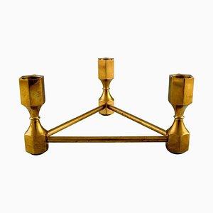 Gusum Metall Kerzenhalter aus Messing für 3 Lampen