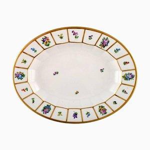 Royal Copenhagen Henriette Oval Serving Dish in Hand-Painted Porcelain
