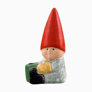 Lisa Larson für Gustavsberg Elf Kerzenhalter aus glasiertem Steingut