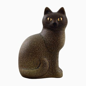 Cat in Glazed Ceramics by Lisa Larson for K-Studio & Gustavsberg