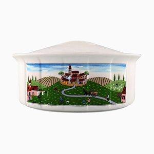 Villeroy & Boch Naif Dinner Service in Porcelain Oval Lidded Tureen