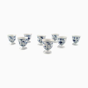 Blue Fluted Porcelain Egg Cups from Bing & Grondahl, 20th Century, Set of 4