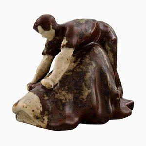 Saxbo Tanner Figure in Stoneware by Hugo Liisberg