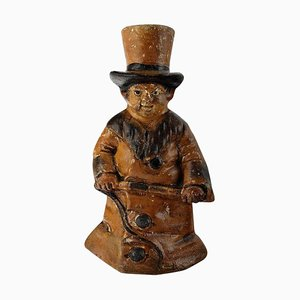 English Figure in Stoneware After Charles Dickens Oliver Twist, 1870s