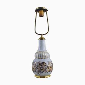 Goldene Dahl Jensen Tischlampe aus Crackle Porzellan