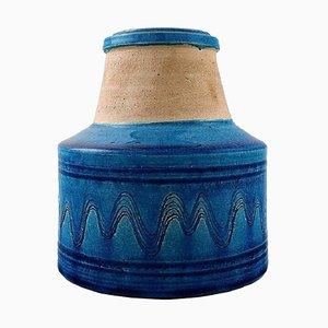 Glasierte Steingut Vase von Nils Kähler, 1960er