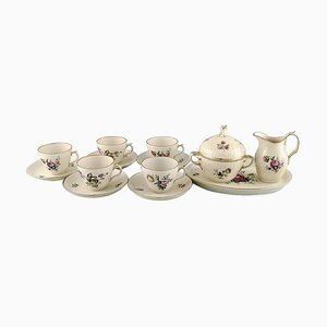 Royal Copenhagen Frijsenborg Coffee Cups with Saucers and Sugar Set, Set of 13