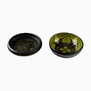 Glazed Stoneware Bowls from Kähler, 1940s, Set of 2
