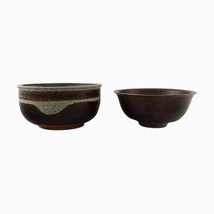 Danish Pottery Bowls by Niels Oluf 'Jeppe' Thorkelin-Eriksen, 1960s, Set of 2