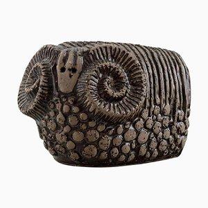 Ram in Glazed Stoneware by Paula von Freymann for Upsala-Ekeby, 1960s