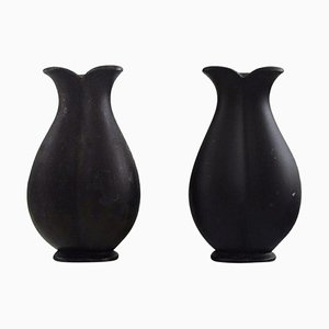 Disko Metal Vases by Just Andersen, 1940s, Set of 2