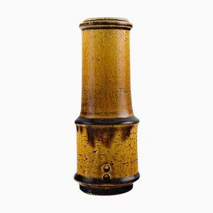 Glasierte Keramik Vase in modernem Design von Kähler, 1960er