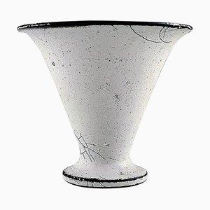 Vase aus glasiertem Steingut von Svend Hammershøi für Kähler, 1930er