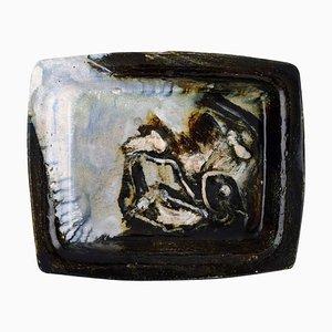 Dänischer Teller aus Keramik mit Abstraktem Motiv von Jeppe Hagedorn-Olsen, Mid-20 Century