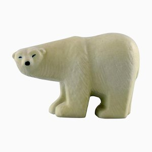 Polar Bear in Glazed Stoneware by Lisa Larson for Gustavsberg, 20th Century