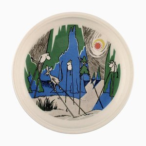 Comet in Moominland Porcelain Plate with Motif from Moomin from Arabia, Late 20th Century