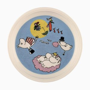 The Flying Moomins Porcelain Plate with Motif from Moomin from Arabia, Late 20th Century