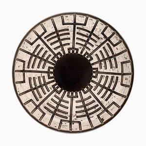 Schale aus glasiertem Steingut mit geometrischem Muster von Mari Simmulson für Upsala-Ekeby, 1960er