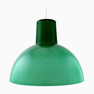 Work Pendant Lamp in Green Opaline Glass from Kastrup & Holmegaard, 1960s