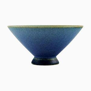 Bowl on Foot in Glazed Ceramic by Sven Wejsfelt for Gustavsberg