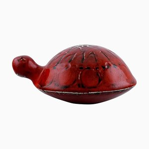 Glazed and Hand-Painted Turtle in Stoneware by Lisa Larson for Gustavsberg, 20th Century
