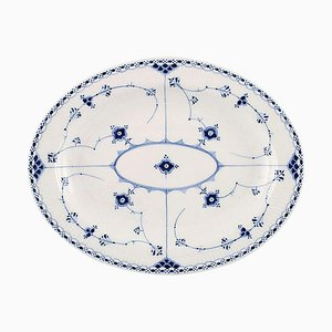 Blue 1/533 Fluted Half Lace Serving Dish by Royal Copenhagen
