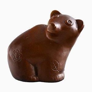 Orso in ceramica di Stig Lindberg per Gustavsberg, anni '60
