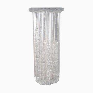 Vintage Norwegian Clear Art Glass Ribbed Model Atlantic Vase by Willy Johansson for Hadeland