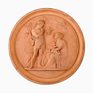 19th Century Terracotta Plaque from P. Ipsens