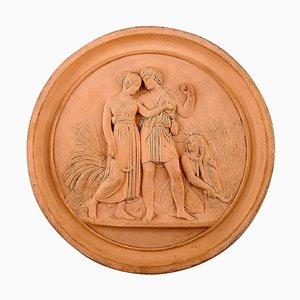 19th Century Terracotta Plaque by P. Ipsens