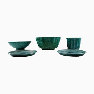 Kleines Geschirr und Vasen Set von Wilhelm Kage & Josef Ekberg für Gustavsberg Argenta, 1940er, 5er Set