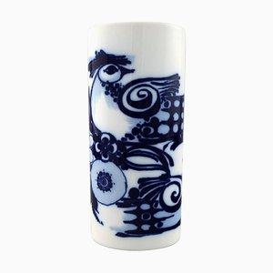 Blaue Porzellanvase von Bjorn Wiinblad für Rosenthal Studio Line