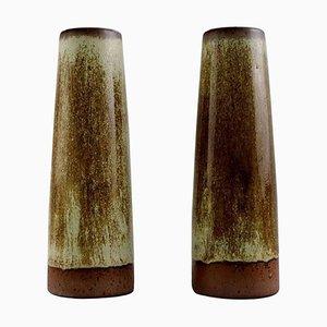 Vintage Stoneware Vases by Per Linnemann-Schmidt for Palshus, Set of 2