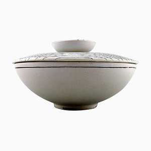 Ceramic Filigree Bowl with Lid by Stig Lindberg for Gustavsberg, 1960s