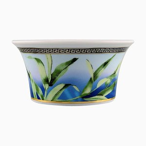 Jungle Porcelain Bowl with Gold Decoration by Gianni Versace for Rosenthal, Late 20th Century