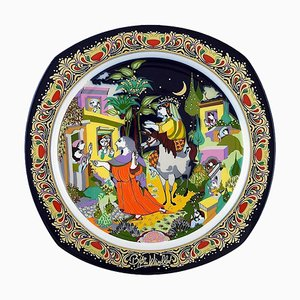 Christmas Plate in Porcelain by Wiinblad for Rosenthal, 1989