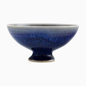 Bowl on Foot in Glazed Ceramic by Sven Wejsfelt for Gustavsberg, 1990s