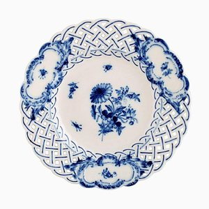 Pierced or Reticulated Plate from Meissen, 1920s