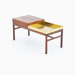 Scandinavian Flower Table Casino in Rosewood and Brass by Sven Engström & Gunnar Myrstrand for Tingströms, 1960s
