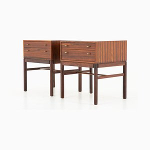 Scandinavian Rosewood Casino Nightstands by Sven Engström & Gunnar Myrstrand for Tingströms, 1960s, Set of 2