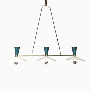 3-Light Ceiling Lamp from Stilnovo, 1950s