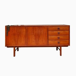 Mid-Century Danish Teak Sideboard with Key