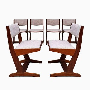 Mid-Century Danish Ski Leg Teak Dining Chair