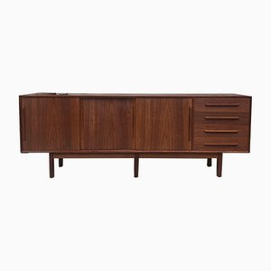 Mid-Century Danish Teak Three Leg Long Sideboard