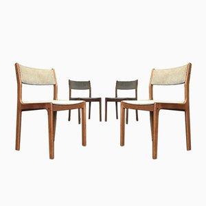 Mid-Century Danish Teak Dining Chairs by Erik Buch for Findahls Møbelfabrik, Set of 4